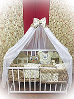 """Детский постельный набор в кроватку Bonna """"Лесные зверята"""" бежевый"""