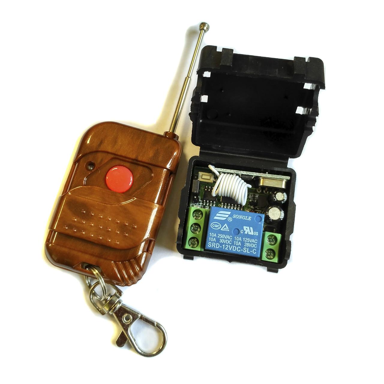 1-канальное беспроводное реле 12В + пульт для автоматизации