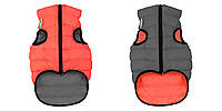 Курточка двухстороння для собак ЭйриВест кораллово-серая