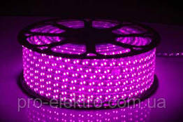 LED лента 2835 STANDART # 13-P 120P2835-220V-12W/m IP65 8mm Розовый 1017851