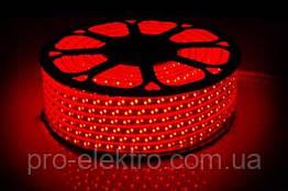 LED лента 2835 STANDART # 13-R 120R2835-220V-12W/m IP65 8mm Красный 1017848