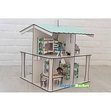 Кукольный домик NestWood для кукол ЛОЛ , 8 комнат. 4х сторонний (этаж 20см), без мебели