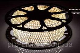 LED лента 2835 STANDART # 13-WW 120WW2835-220V-12W/m IP65 8mm Тёплый белый 1017845