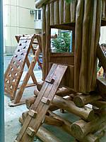 Детская игровая горка с брёвен 001, фото 1