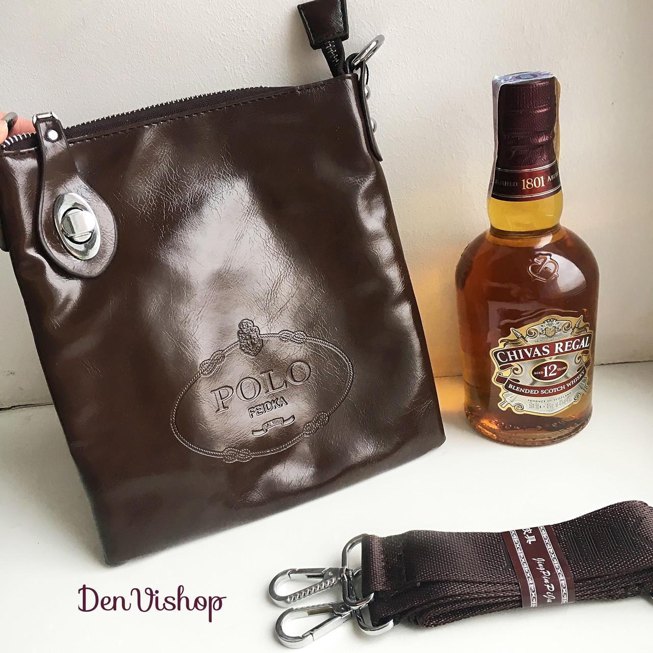 "Шикарна сумка ""Polo Bali"" коричневого кольору."