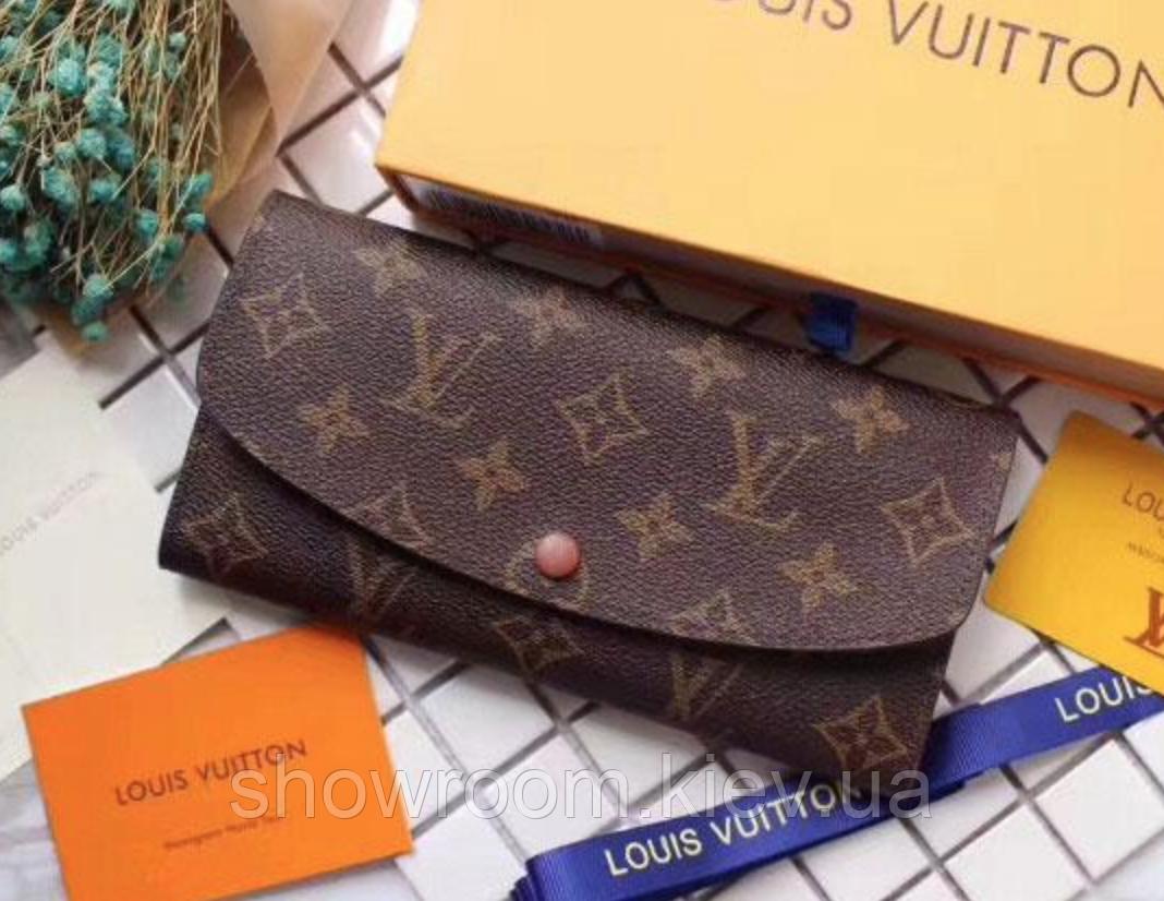 Женский кожаный кошелек в стиле Louis Vuitton (60136) brown
