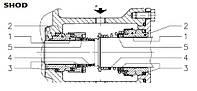 Торцовое уплотнение механическое ( mechanical seal - tenuta meccanica ) к насосу  LOWARA SHOD