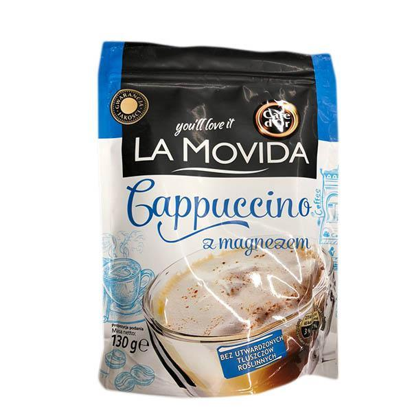 Капучино растворимый с магнием Cafe Dor La Movida z magnezem, 130г сухой кофейный напиток