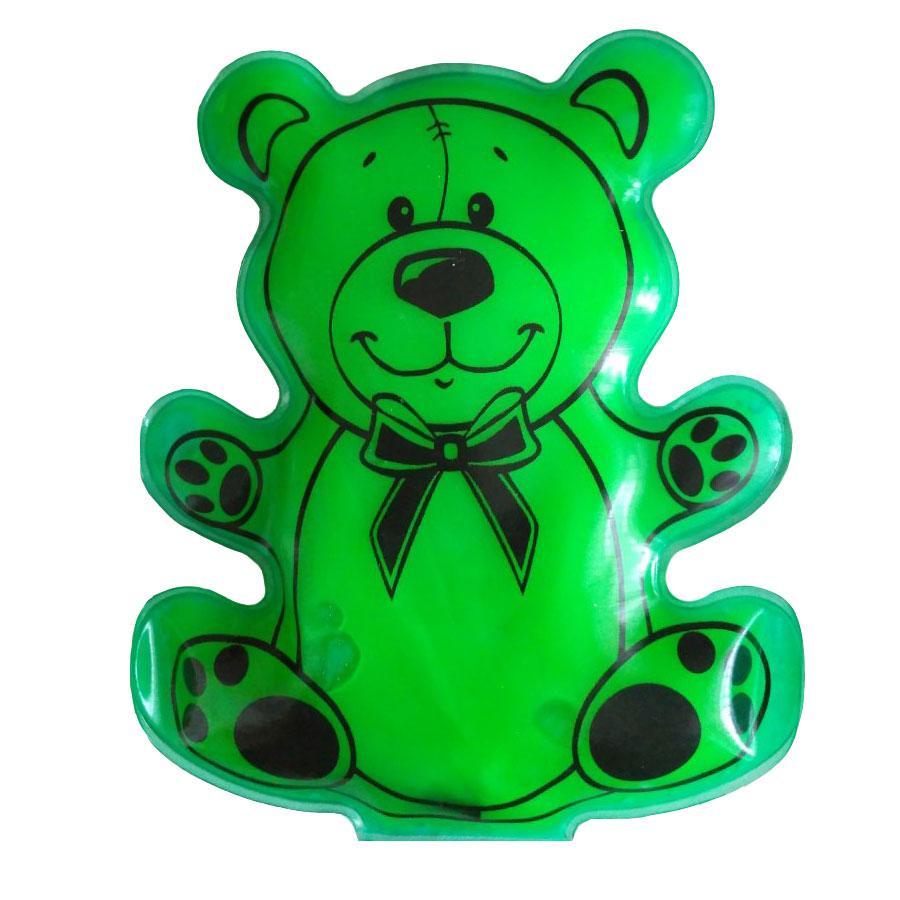 "Сольова грілка для дітей ""Мишка"" Зелений, багаторазова хімічна грілка з сіллю   солевая грелка детская"