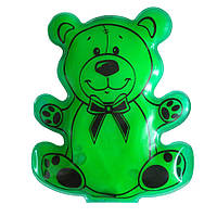 """Сольова грілка для дітей """"Мишка"""" Зелений, багаторазова хімічна грілка з сіллю   солевая грелка детская, фото 1"""