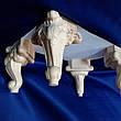 Ножка в стиле барокко для деревянного шкафа, кресла. Мебельная опора кабриоль резная. 140 мм топ, фото 4
