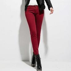 Теплые женские джинсы и брюки