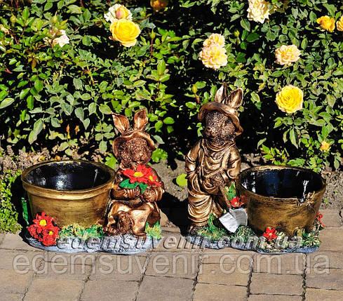Садовая фигура Заяц (М) и Зайчиха (М), фото 2