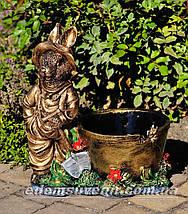 Садовая фигура Заяц малый и Зайчиха малая, фото 3