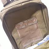 Рюкзак тактический армейский 35 л койот, фото 10