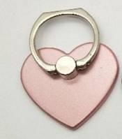 Держатель кольцо, подставка для телефона, сердечко, розовая