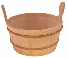 Кадушка деревянная 8 л. с пласт.вст. 300-ТР