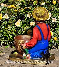 Садовая фигура подставка для цветов Иванко и Галочка, фото 3