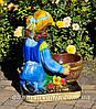 Садовая фигура подставка для цветов Иванко и Галочка, фото 5