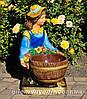 Садовая фигура подставка для цветов Иванко и Галочка, фото 4