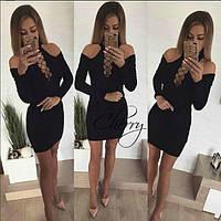 Сукня Amаlia, трикотаж масло, шнурівка