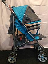 Детская коляска-трость BAMBI (M 2105-1) B (Голубой) , фото 3