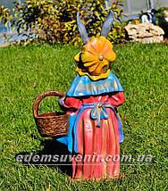 Садовая фигура подставка для цветов Заяц большой и Зайчиха большая, фото 3