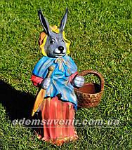 Садовая фигура Заяц большой и Зайчиха большая, фото 2