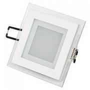 Светодиодные светильники (панели) встроенные квадратные