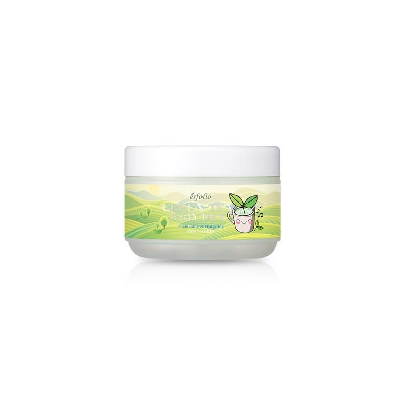 Лифтинг маска с памятью формы с зеленым чаем ESFOLIO GREEN TEA JELLY PACK, 100 мл