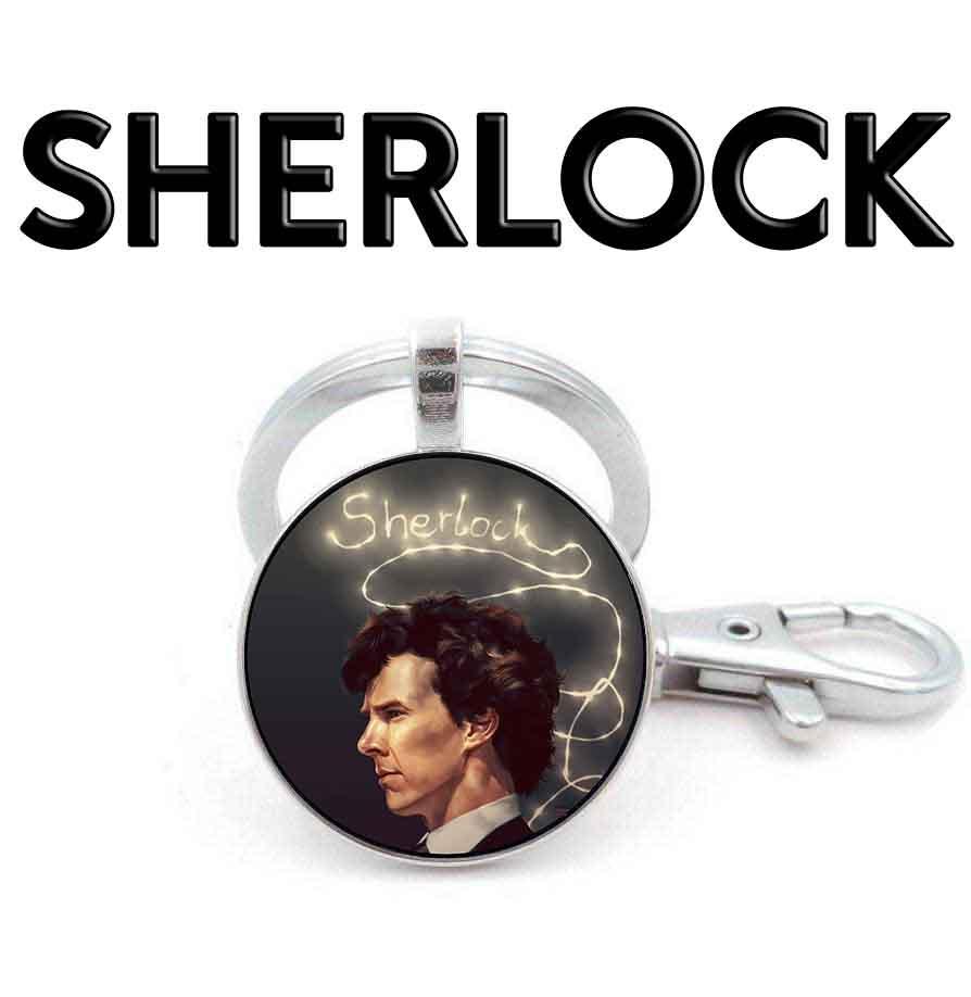 Брелок с портретом героя в профиль Шерлок / Sherlock