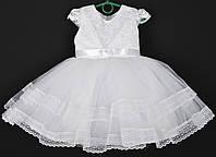 """Платье нарядное детское """"Лилия"""" с оборками 3-4 года. Белое. Купить оптом и в розницу, фото 1"""