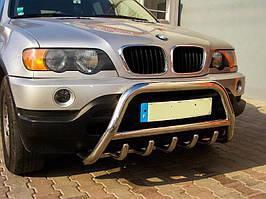 Кенгурятник нержавейка на  BMW X5 (e 53) 2000--2007 БМВ х 5 PRS 60*2