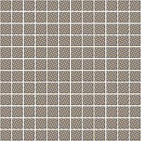 Мозаика Кастелло орнамент беж 29,8х29,8х3,5