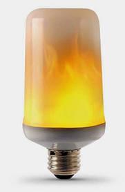 Декоративная светодиодная лампа живой огонь FIREFLUX 5W E27 3 режима 220V Код.59402