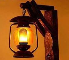 Декоративная светодиодная лампа живой огонь FIREFLUX 5W E27 3 режима 220V Код.59402, фото 3