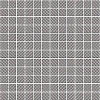 Мозаика Кастелло орнамент серый 29,8х29,8х3,5