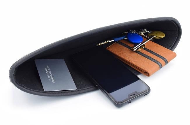 Автомобильный карман-органайзер Type-1 Black с логотипом Mitsubishi пинал для автомобиля подарок, фото 2