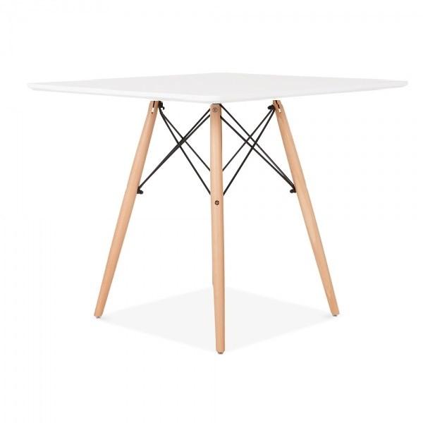 Квадратный стол Крит белый на буковых ножках от SDM Group, 70*70 см