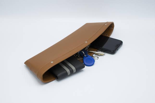 Автомобильный карман-органайзер Type-2 Brown с логотипом BMW пинал для автомобиля подарок, фото 2