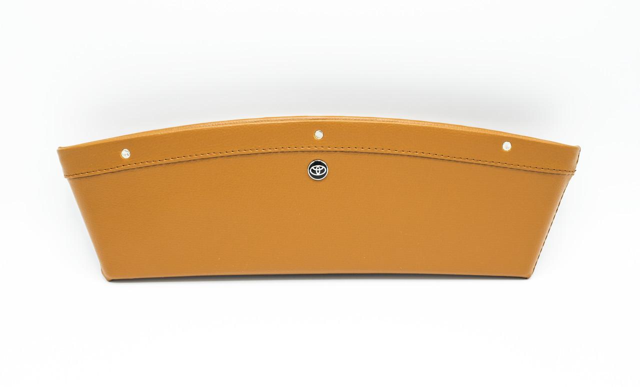 Автомобильный карман-органайзер Type-2 Brown с логотипом Toyota пинал для автомобиля подарок