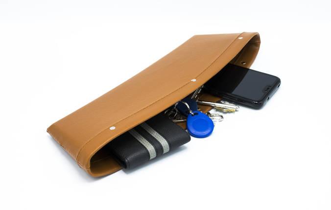 Автомобильный карман-органайзер Type-2 Brown с логотипом Toyota пинал для автомобиля подарок, фото 2