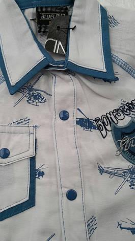 Модная рубашка для мальчиков 92,98,104 роста Вертолеты, фото 3