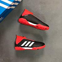 Сороконожки Adidas Predator 18+ Black - Red