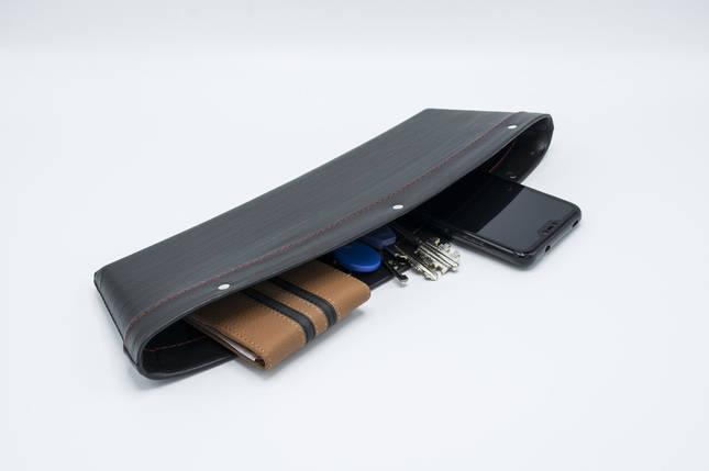 Автомобильный карман-органайзер Type-2 Black с логотипом Mercedes пинал для автомобиля подарок, фото 2