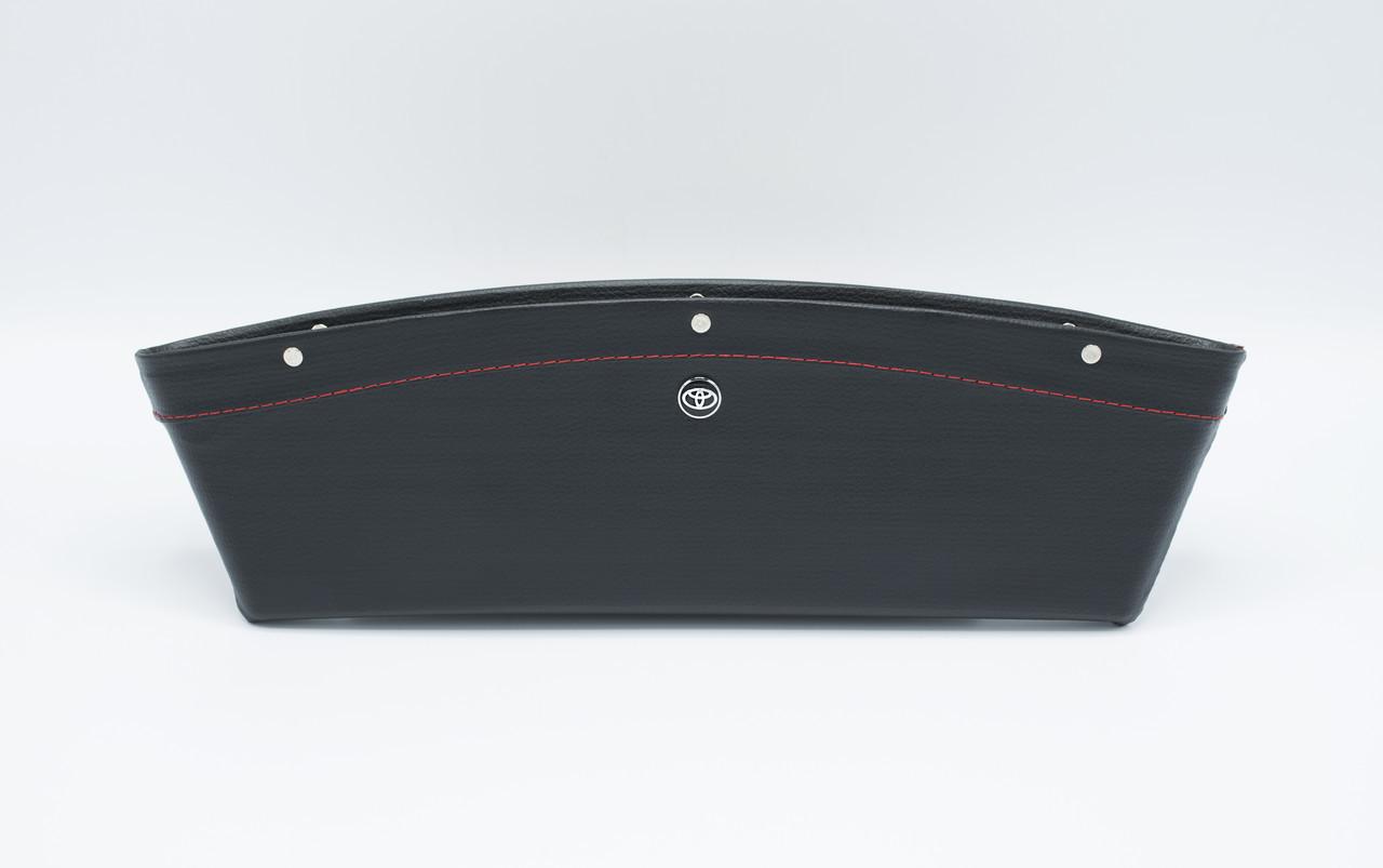 Автомобильный карман-органайзер Type-2 Black с логотипом Toyota пинал для автомобиля подарок