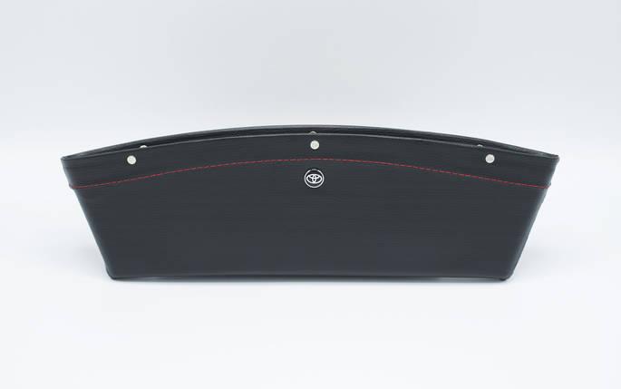 Автомобильный карман-органайзер Type-2 Black с логотипом Toyota пинал для автомобиля подарок, фото 2