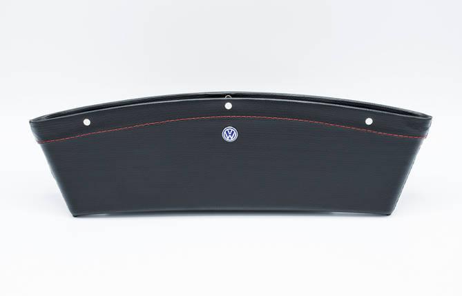 Автомобильный карман-органайзер Type-2 Black с логотипом Volkswagen пинал для автомобиля подарок, фото 2