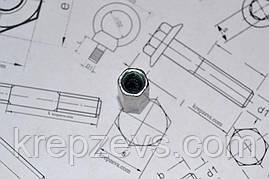 Гайка М6 DIN 6334 оцинкованная