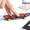 Оригинальная Прикольная Игрушка Набор Мини Скейтборд для Пальцев Fingerboard Фингерборд